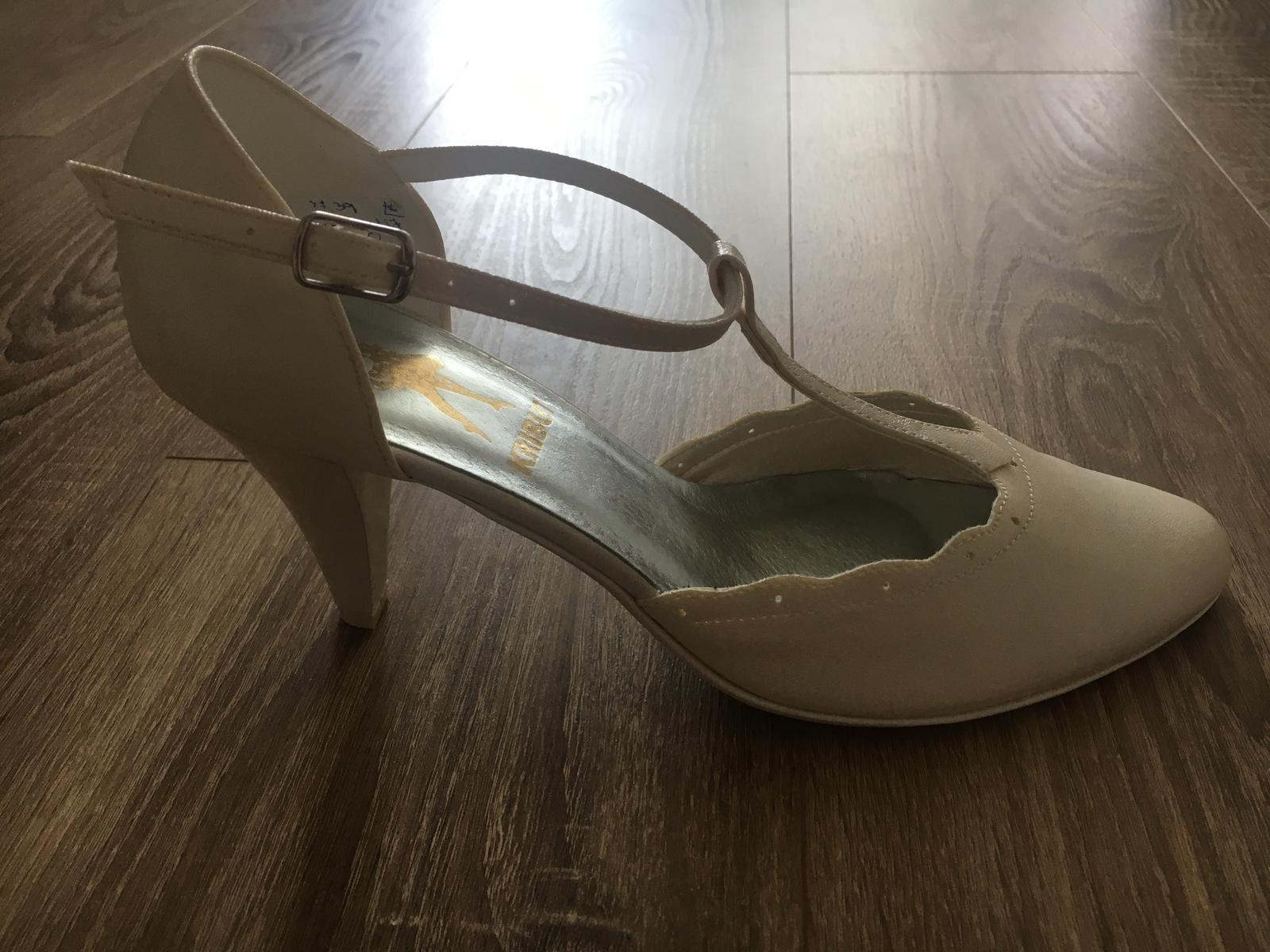 Svadobné topánky - nepoužívané - Obrázok č. 2
