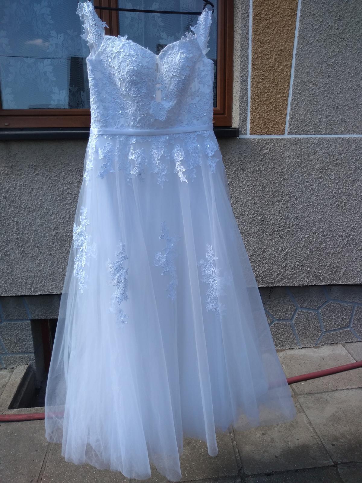 svatební šaty bílé 38-42 - Obrázek č. 1