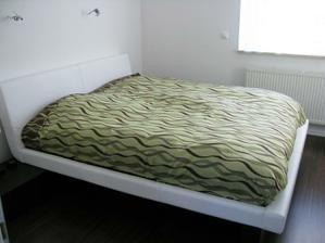Spalna s novou postelou a zatial bez tapety 2010