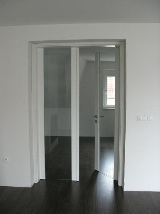 Nas dom - Presklene dvere medzi obyvackou a pracovnou, 2009