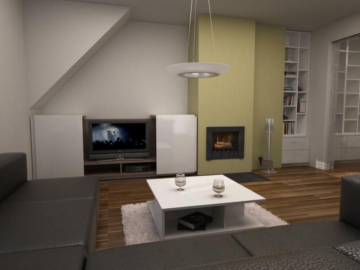 Nas dom - Obyvacka navrh, ale od tento TV zostavy sme upustili