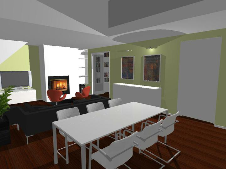 Nas dom - Prvy navrh obyvacieho priestoru s jedalnou - od Fra, 2010