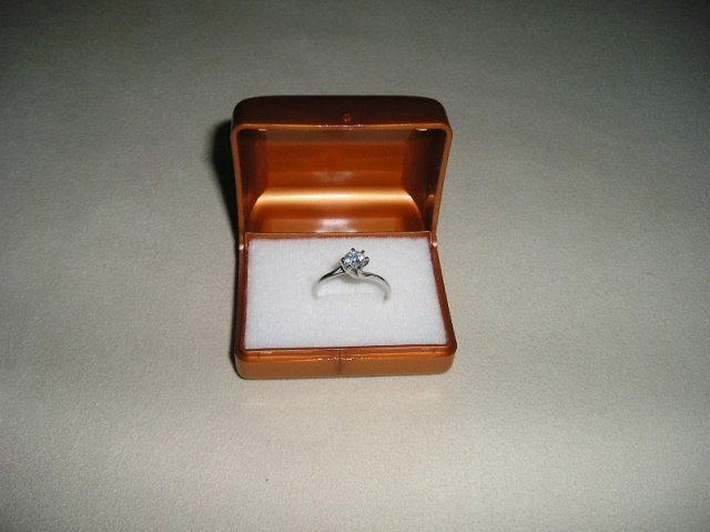 Bára a Jirka - příprava svatby 9.9.2009 v Chodově u KV - Tenhle prstýnek jsem dostala 14.2.2009