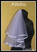 Bára a Jirka - příprava svatby 9.9.2009 v Chodově u KV - Závoj už mám taky vybraný