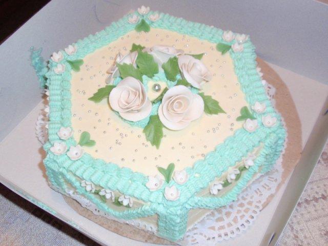 Bára a Jirka - příprava svatby 9.9.2009 v Chodově u KV - Ochutnávka dortu, ale budeme mít jiný tvar, možná patrový a určitě jinou barvu