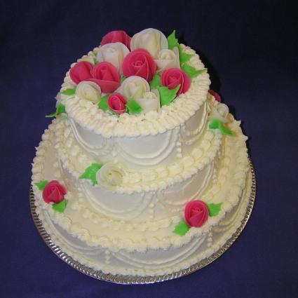 Bára a Jirka - příprava svatby 9.9.2009 v Chodově u KV - Třípatrový dort