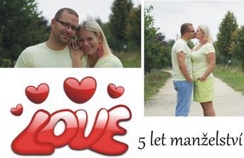 5 let manželé!