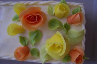 detail malého dortíku