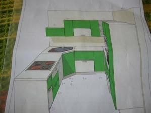 Návrh našej kuchyne...farby budu ale ine limetka a antracit...