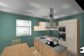 takto nejak bude umiestnena nasa kuchyna...pravdaze ine farby chcem zeleno sedu...to je len koli predstave....