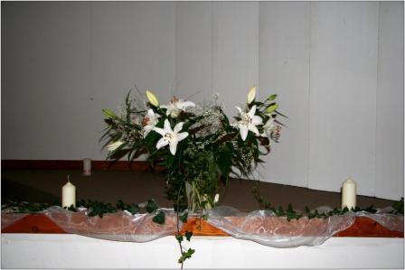 Katka{{_AND_}}Majo - výzdoba v kostole