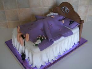 Torta pre manžela, len v zelenom