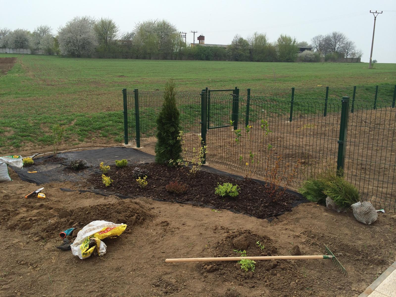 Zahrada- jak to vsechno zacalo.. - Dneska sa zakladal zahon :)