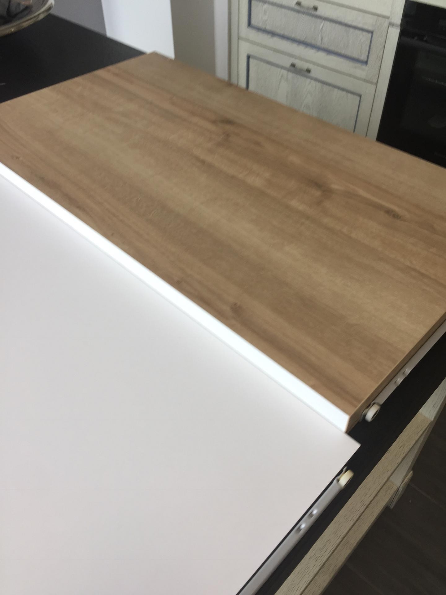 druha kuchyn od Schmidta ( finalni verze) - bily mat a vintage oak