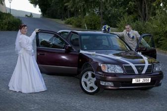 naše /nevěsty/ svatební autíčko