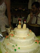 Svatební sladkost - dort z Berouna a naši svatební tučňáčci z Prahy