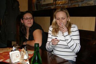 kuřácký koutek Medvjedy a Anninky :-)