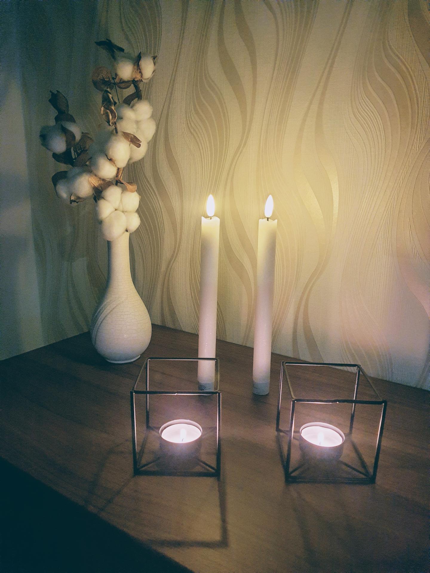 Začíname rok 2021 🏡 - Nové sviečky 🙂svietnik ešte cestuje..🚚