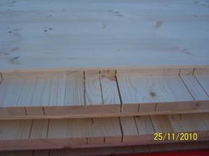 detail stěny a její složení (pouze dřevo - nejlepší izolant)