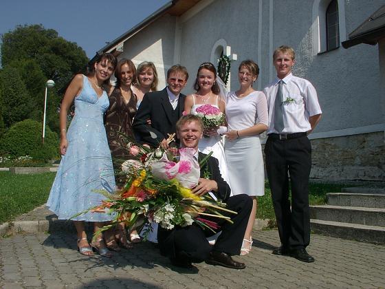 Adelka Barčiaková{{_AND_}}Daniel Ďuriak - kvety a gratulanti