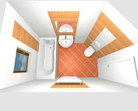 akorát ten záchod je trošku jinak - není až po strop, bude nad ním skříňka