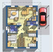 Keďže montované steny sú o 10 cm tenšie než v pôvodnom projekte, získame viac vnútornej podlahovej plochy.