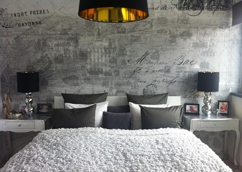 Foto inšpirácie našich zákazníkov - Inšpiratívne fotografie krásnej spálne s použitím vliesovej tapety Destinations - Loveletter - http://www.design-shop.sk/vliesova-tapeta-destinations-p111301-8/