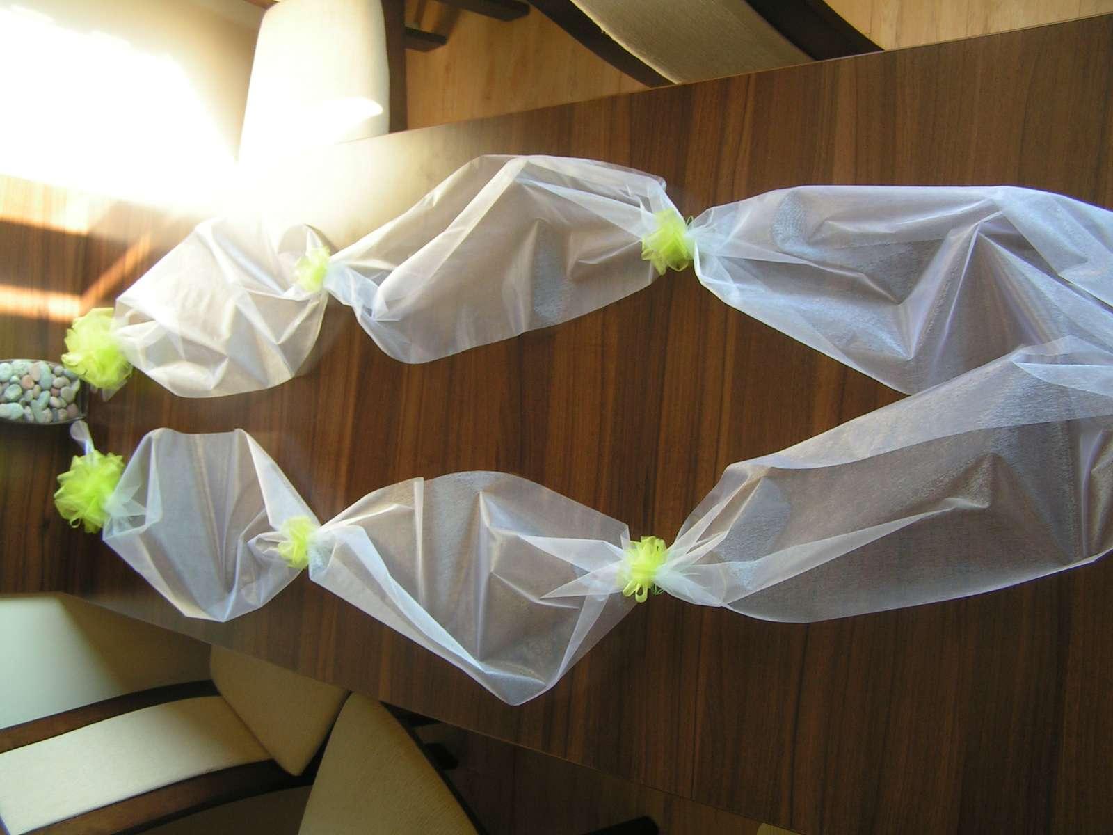 Šerpa na auto nevěsty a ženicha - různé barvy - Obrázek č. 1