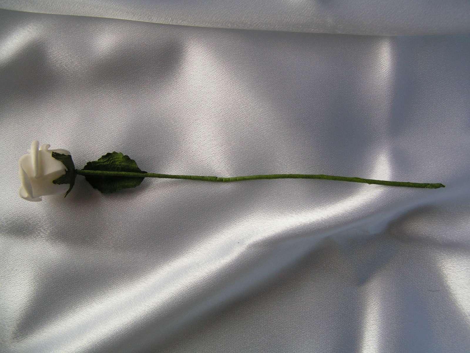 Bílá pěnová růžička - Obrázek č. 2