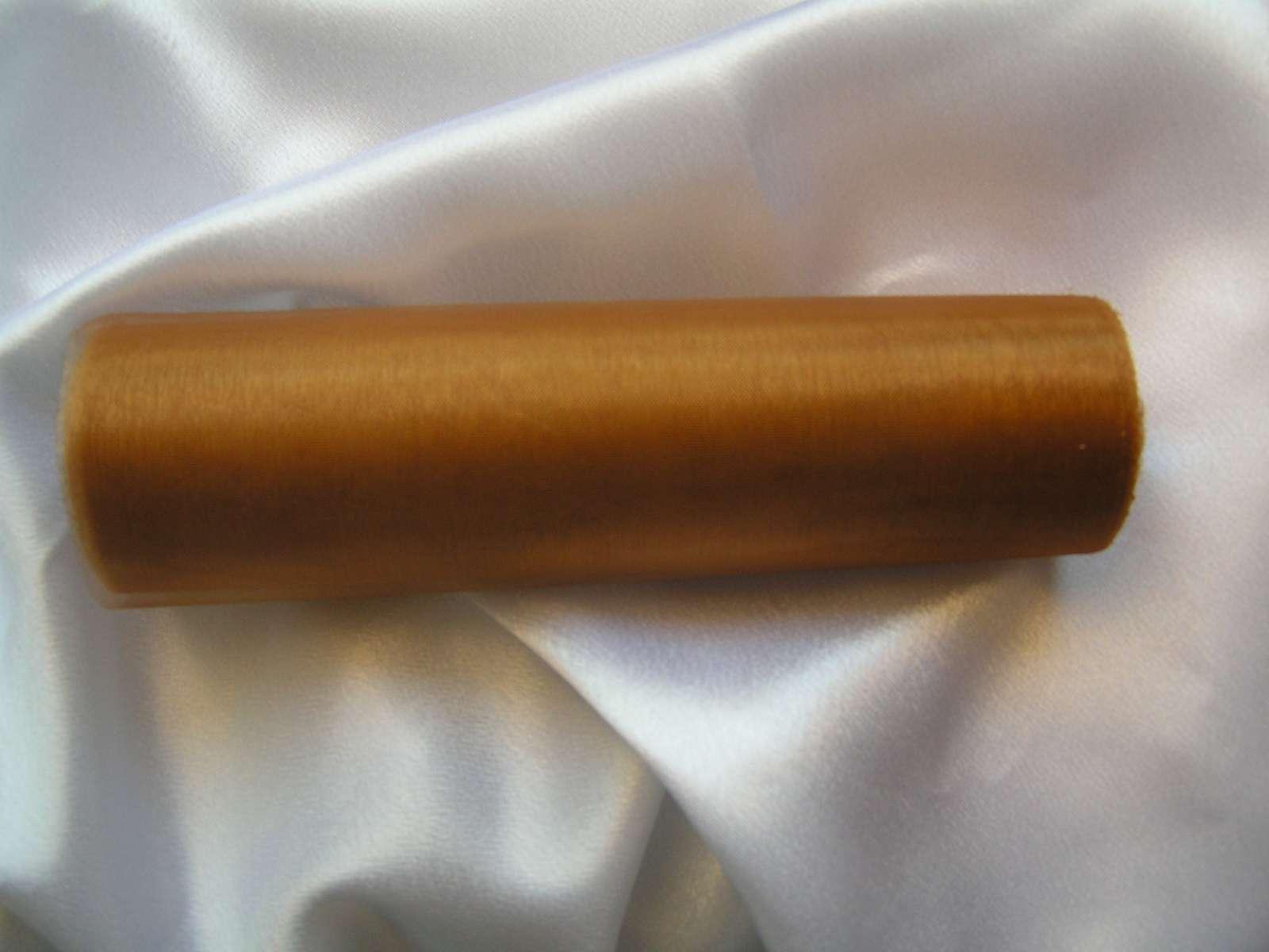 Karamelová organza 16 cm x 9 m - Obrázek č. 1