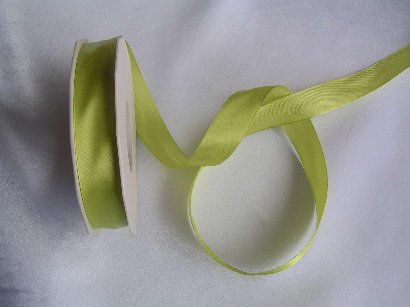 Zelená saténová stuha 20 mm - Obrázek č. 1