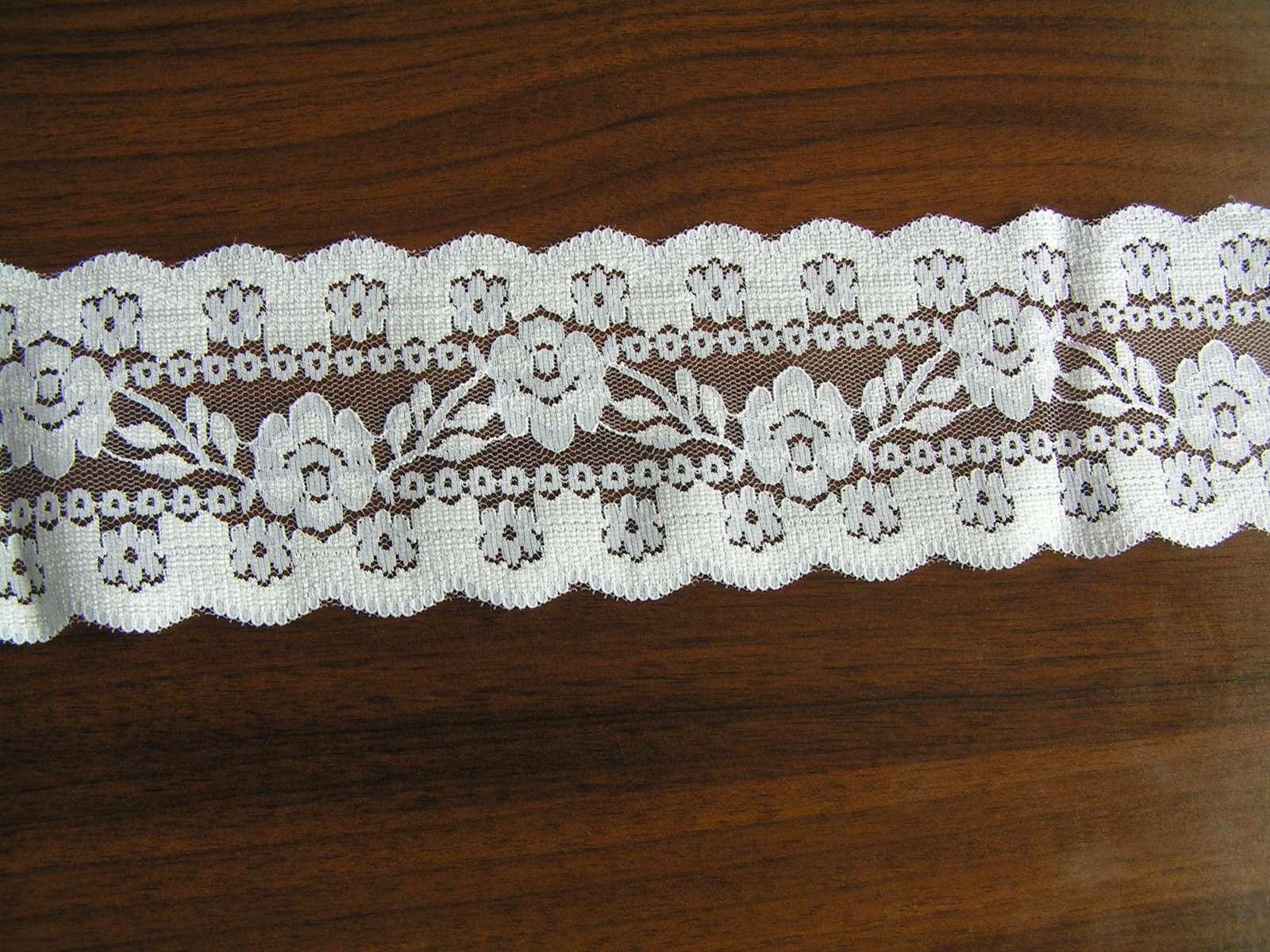 Bílá krajka š. 7,5 cm - Obrázek č. 1