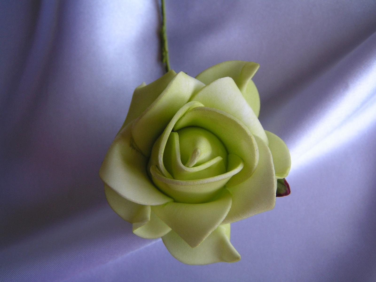 Světle zelené pěnové růže - 7 cm - Obrázek č. 1
