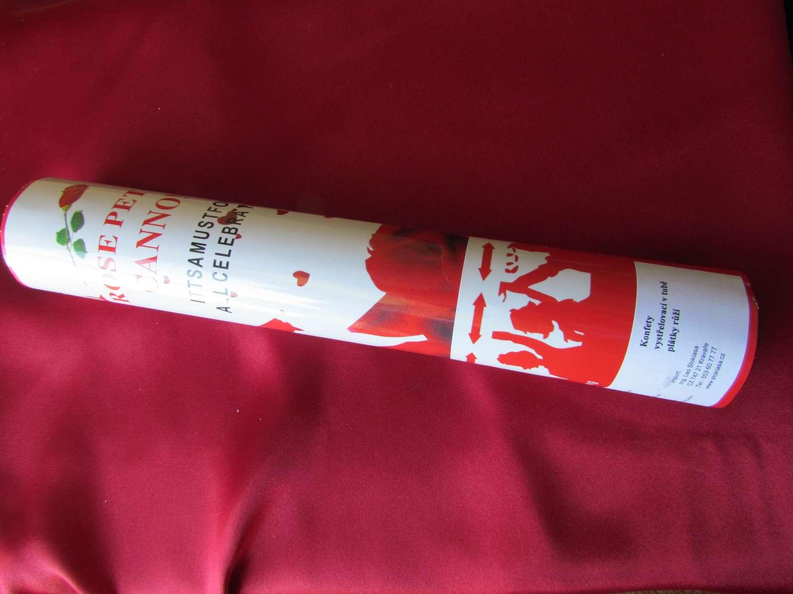 Vystřelovací konfety - okvětní lístky - Obrázek č. 1