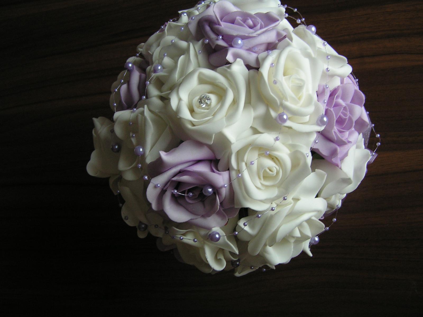 Velká kytice z pěnových růží - Obrázek č. 2