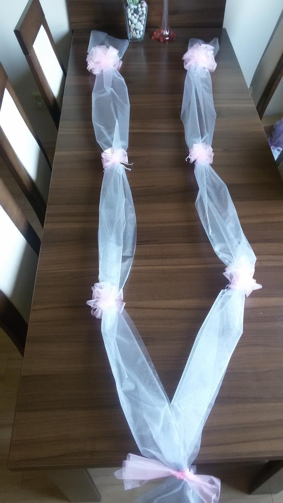 Šerpa na auto nevěsty/ženicha - Obrázek č. 1