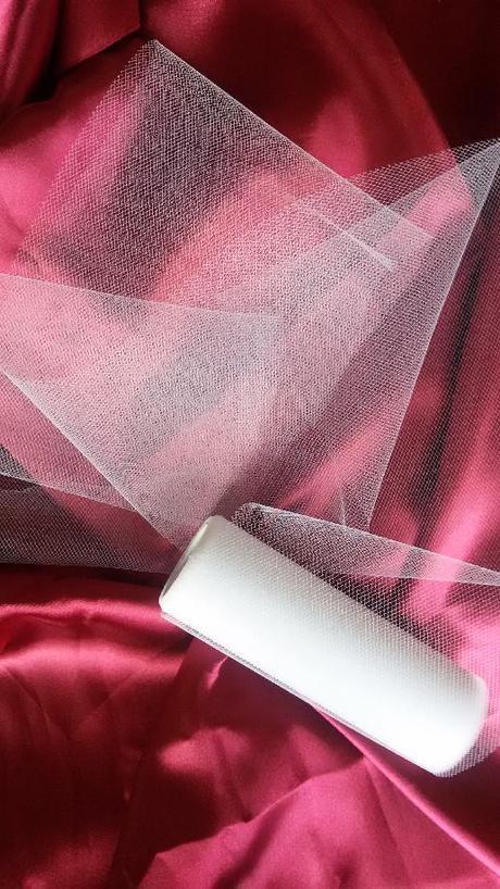 Bílý tyl šíře 15 cm - Obrázek č. 1