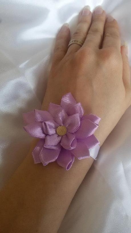 Saténová květinka - Obrázek č. 2