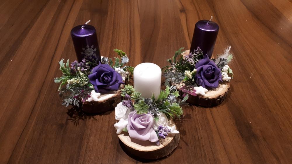 Svícen na dřevě - Obrázek č. 1