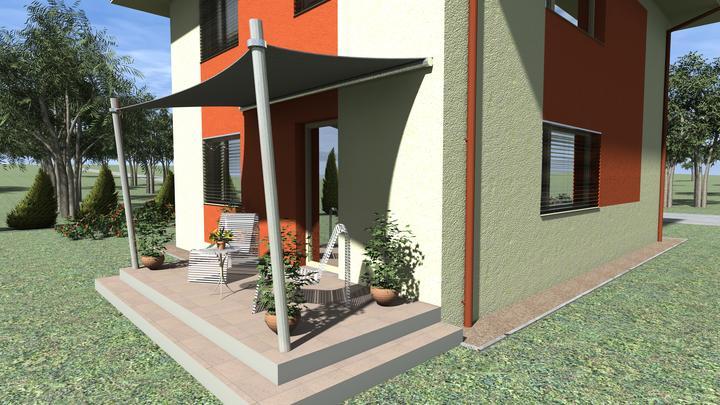 Energeticky pasívny dom v Ivanke pri Dunaji pre @peterma - fasada v prvej alternative