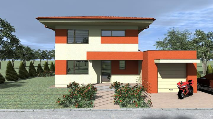 Energeticky pasívny dom v Ivanke pri Dunaji pre @peterma - Fasada v druhej alternative