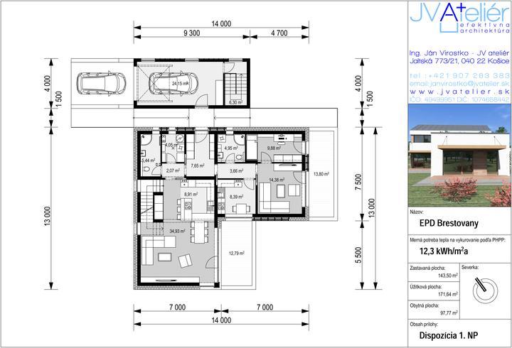 Energeticky pasívny dom v Brestovanoch pre @firhang - Obrázok č. 2