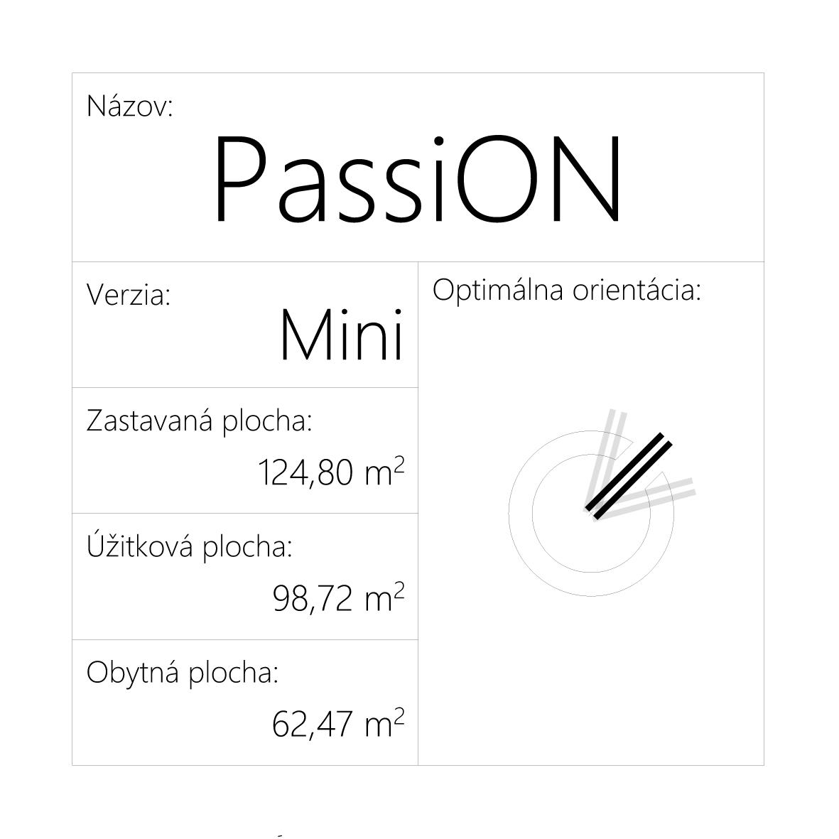 Projekt pasívneho domu - PassiON Mini - Obrázok č. 2