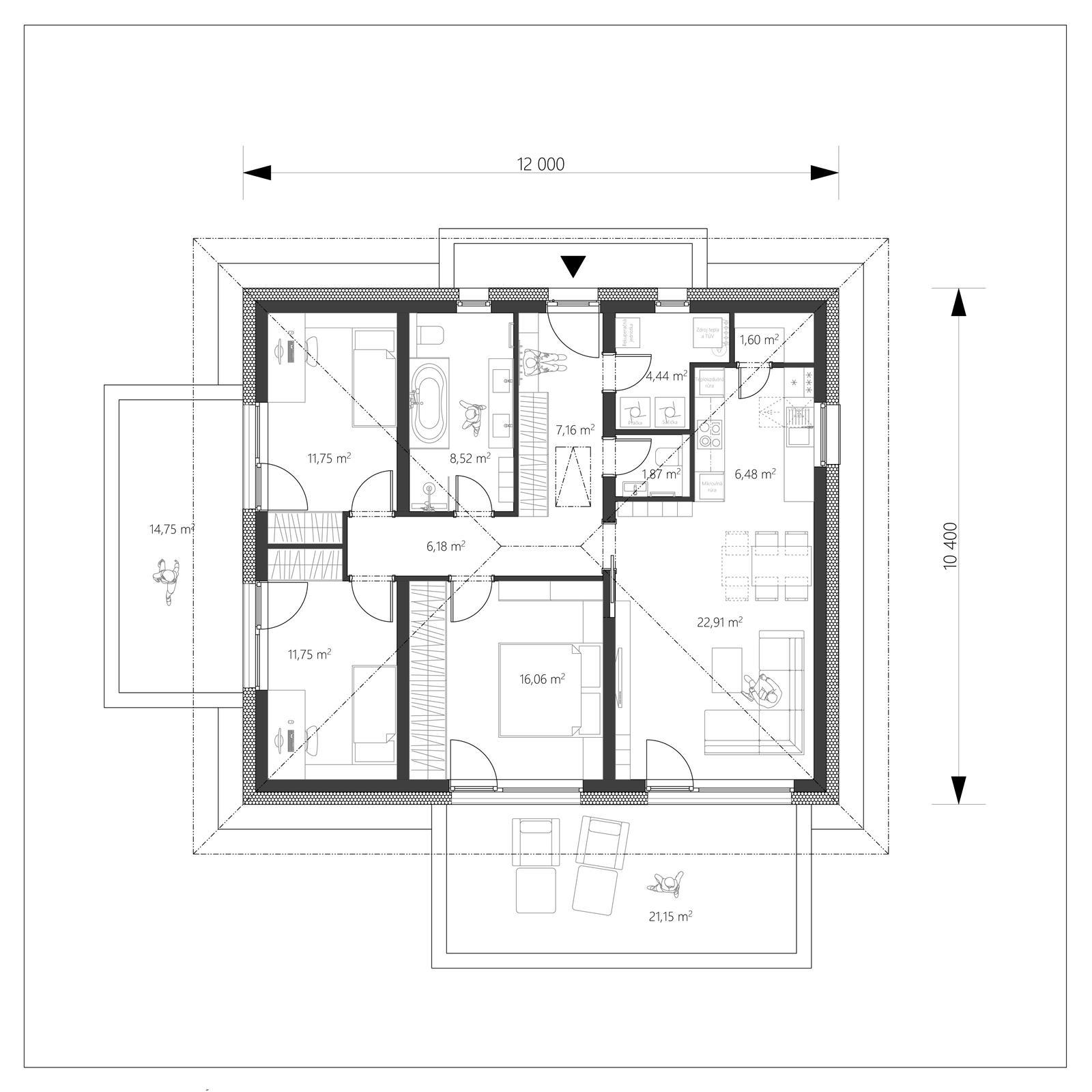 Projekt pasívneho domu - PassiON Mini - Obrázok č. 3
