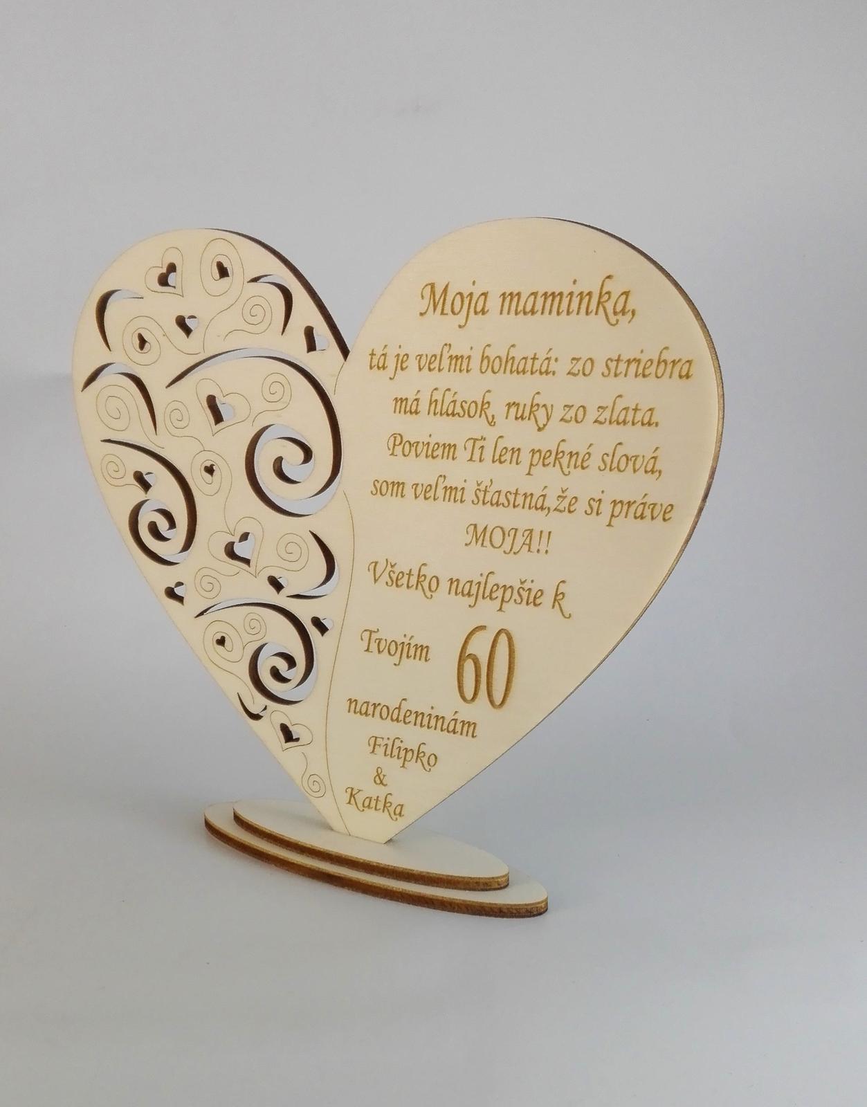 Drevené srdce výrez - Obrázok č. 1