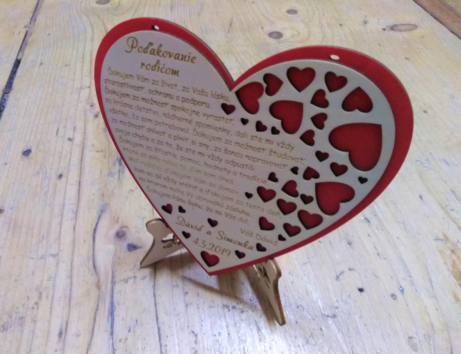 Srdce - poďakovanie rodičom - Obrázok č. 3