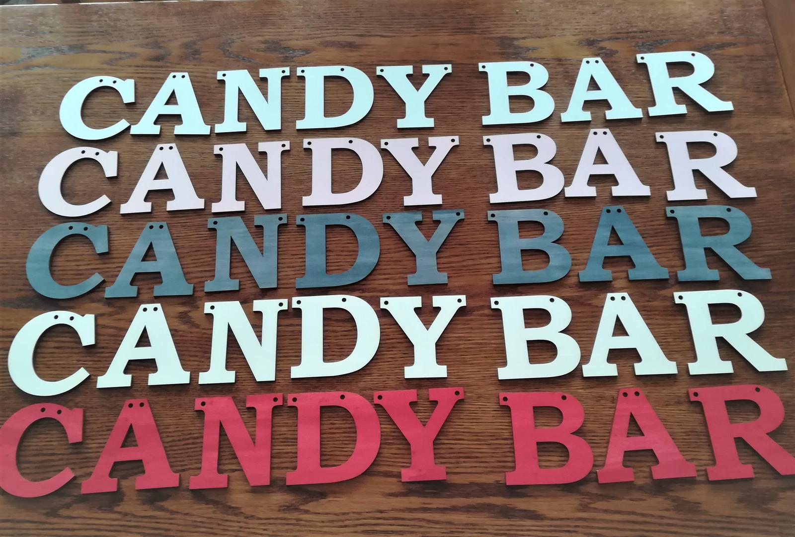 Nápis Candy bar - Obrázok č. 1