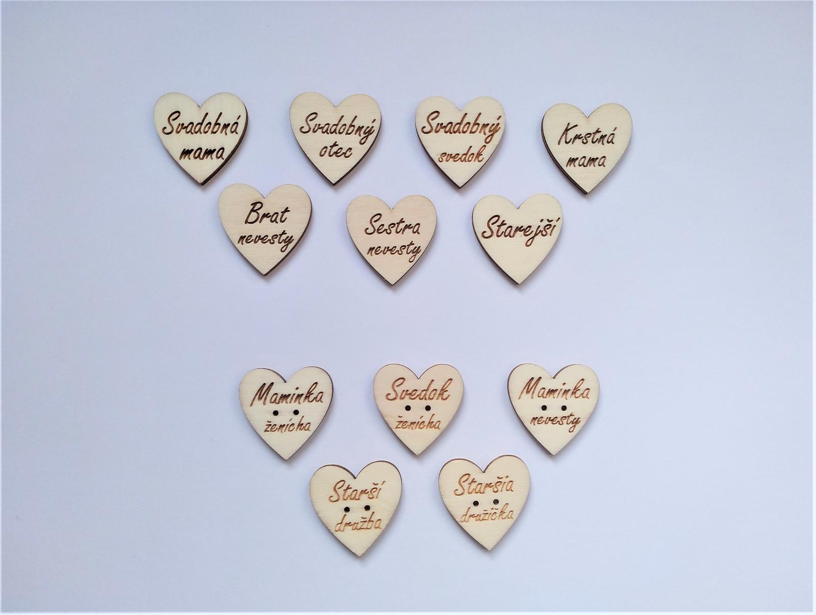 Srdcia na pierka pre svadobčanov - Obrázok č. 1