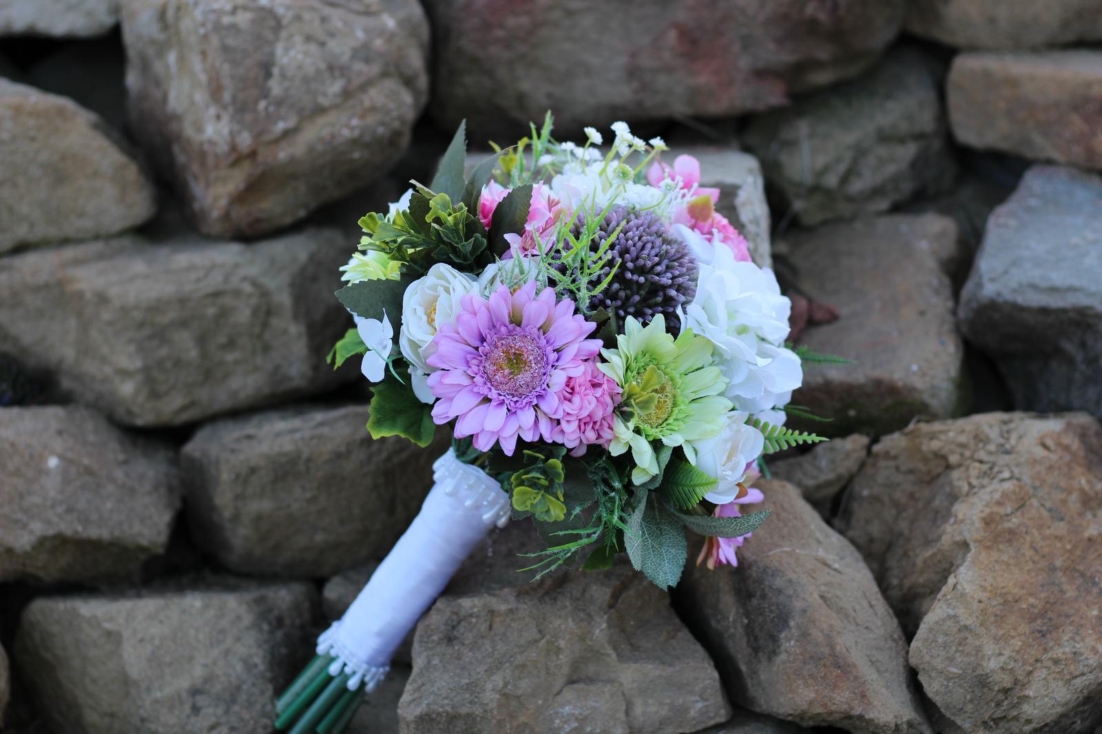 Svadobné kytice 4 druhy - Obrázok č. 2