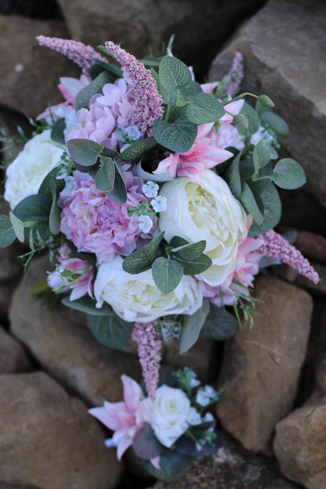 Svadobné kytice 4 druhy - Obrázok č. 3